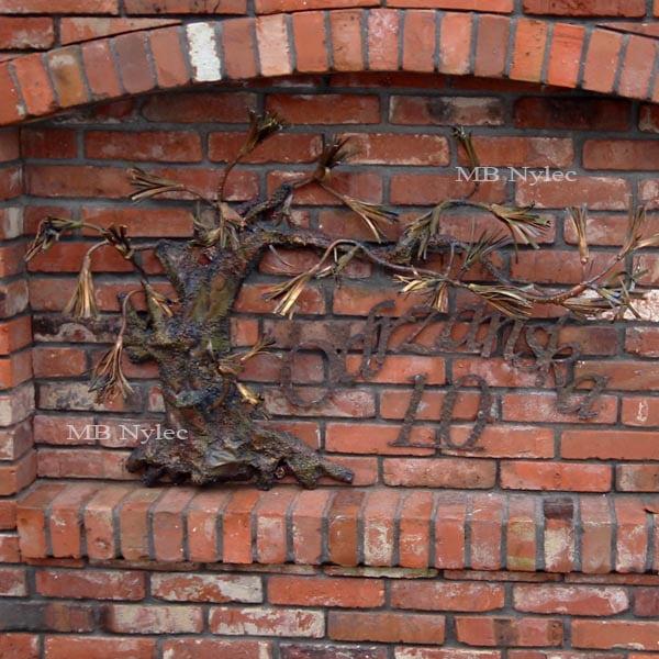 Bonsai aus Metall - Reliefs aus Stahl - Metallarbeiten - Hausnummer - Katalognummer Z62