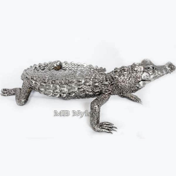 Metallskulpturen - Alligator aus Stahl - Metallarbeiten - Katalognummer Z46