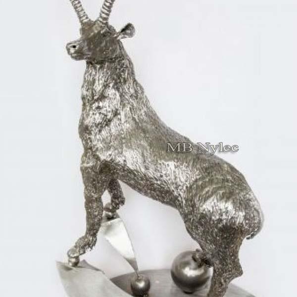 Metallarbeiten - Skulpturen aus Metall - Steinbock aus Stahl - Katalognummer Z48