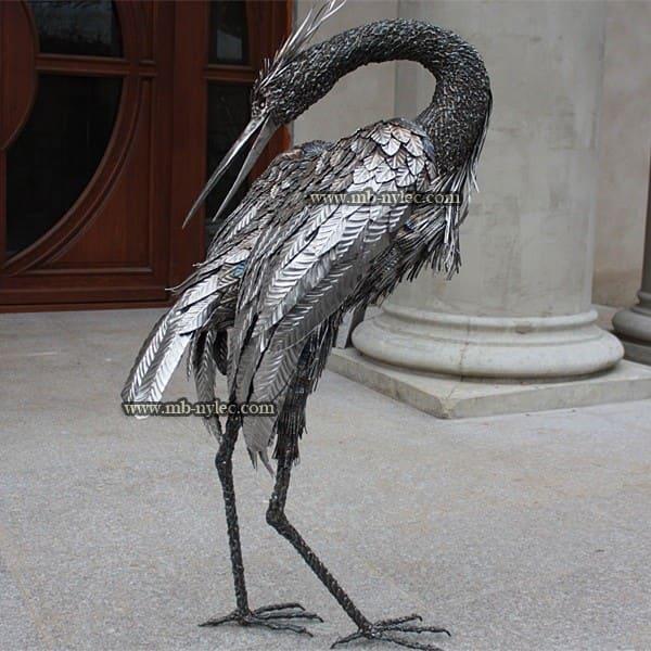 Skulpturen aus Metall - Reiher aus Stahl - Maßstab 1: 1 - Katalognummer Z15