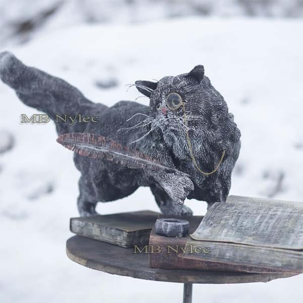 Stahlfiguren - Katzenwissenschaftler aus Stahl - Metallarbeiten - Katalognummer Z73