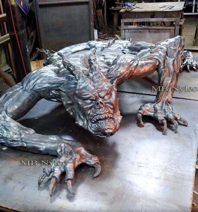 Metallskulpturen - Stahl Dämon - Flachrelief Dämon - Teufel - Metallarbeiten - Katalognummer Z66