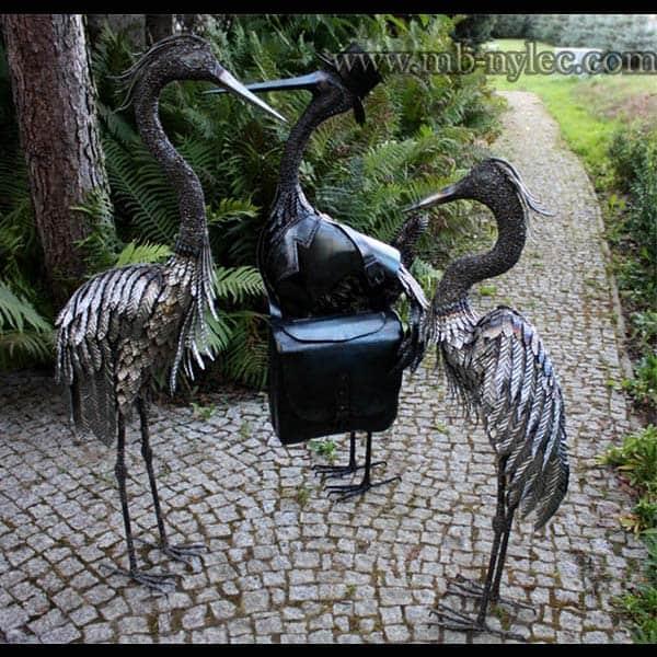 Metallskulpturen - Vögel aus Metall - im Bild: Reiher Z2, Z2, Storch Z9