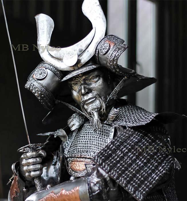 Stahlfiguren - Samurai aus Stahl - Höhe 220 cm - Katalognummer z28 - MB Nylec