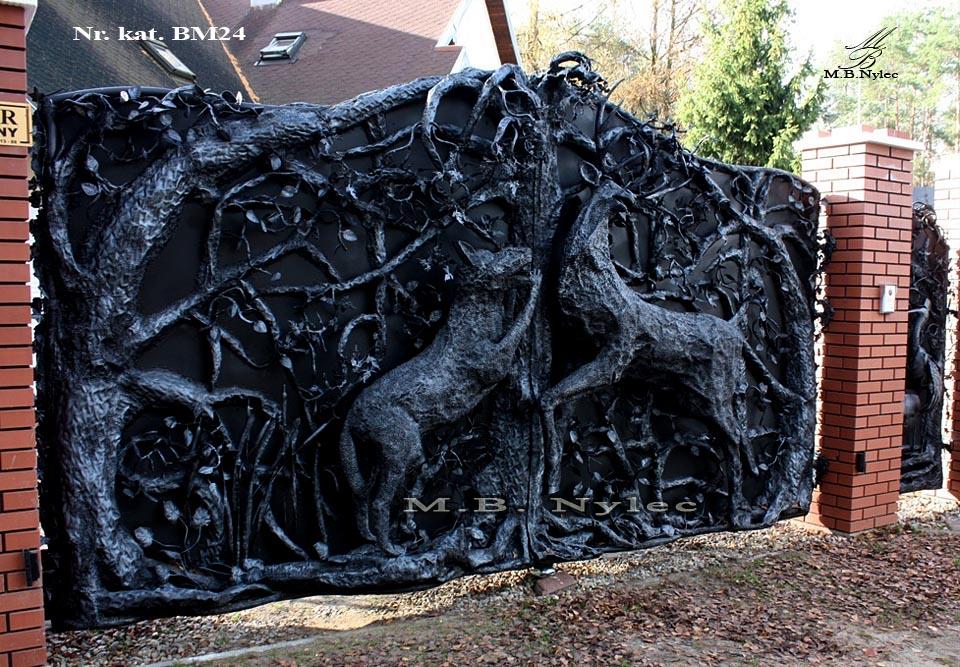 Metallskulptur - Einzigartiges Tor geschmiedet - Katalognummer bm24