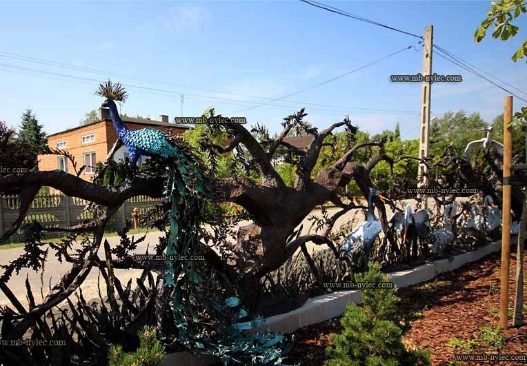 Metallskulptur - geschmiedeter Zaun - Katalognummer bm30