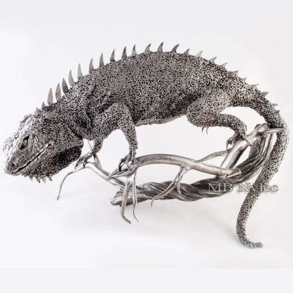 Skulpturen aus Metall - Metallleguane - Schmiedekunst - Katalognummer Z45