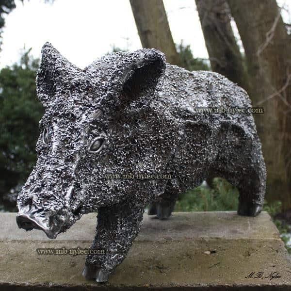 Metallskulpturen - ein kleiner Eber aus Stahl - Stahlskulpturen Polen - Nr. Katalog Z13