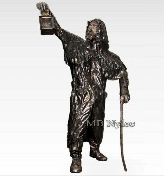 Skulpturen - Lamplighter aus Stahl - Metallarbeiten - Maßstab 1: 1 - Katalognummer Z31