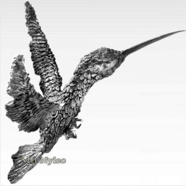 Stahlskulpturen - Kolibri aus Metall - Kunstschmiedekunst - Katalognummer Z40