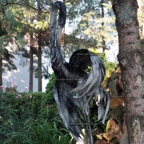 Metallskulpturen - Vogelkran aus Stahl - 1,8 m hoch - Katalognummer Z23