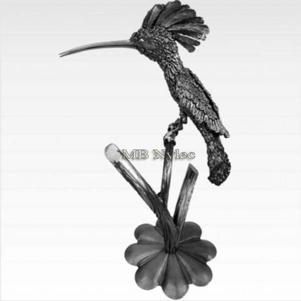 Stahlskulpturen - ein Vogel eines Wiedehopfs aus Metall - Kunstschmiedekunst - Katalognummer Z51