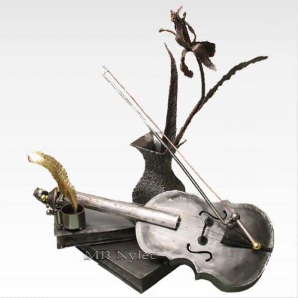 Metallfigur - Stahlskulptur - Violinkomposition - Katalognummer Z56