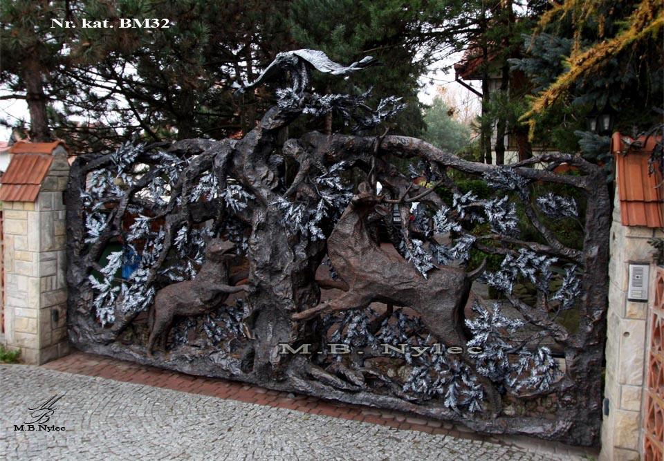 Metallskulptur - Einzigartiges Tor geschmiedet - Katalognummer bm32