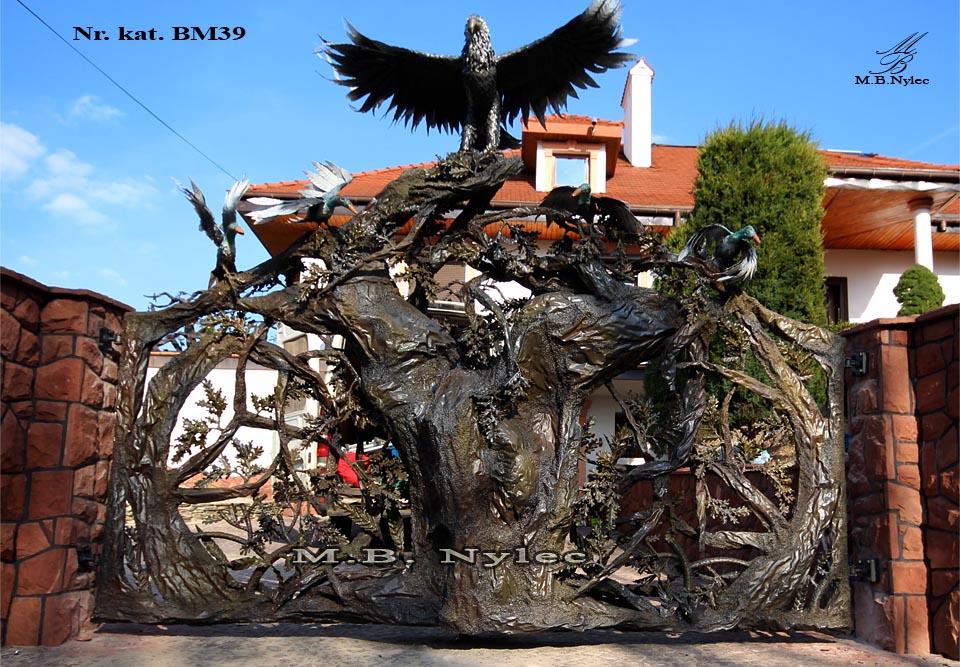Metallskulptur - Einzigartiges Tor geschmiedet - Katalognummer bm39