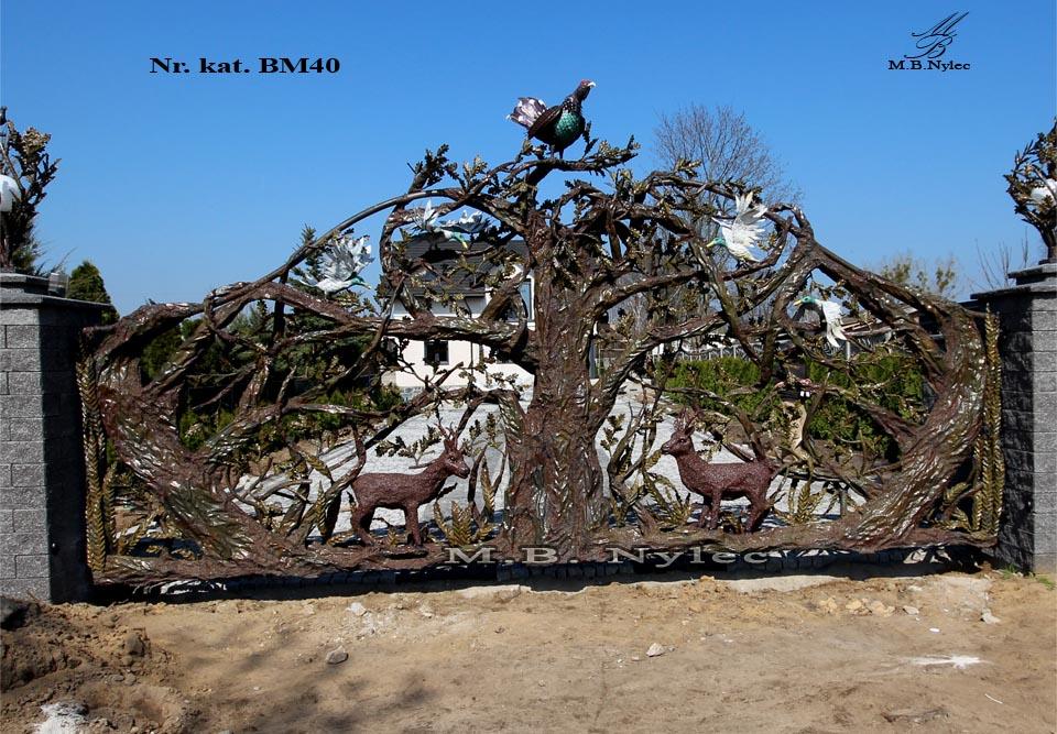 Metallskulptur - Einzigartiges Tor geschmiedet - Katalognummer bm40