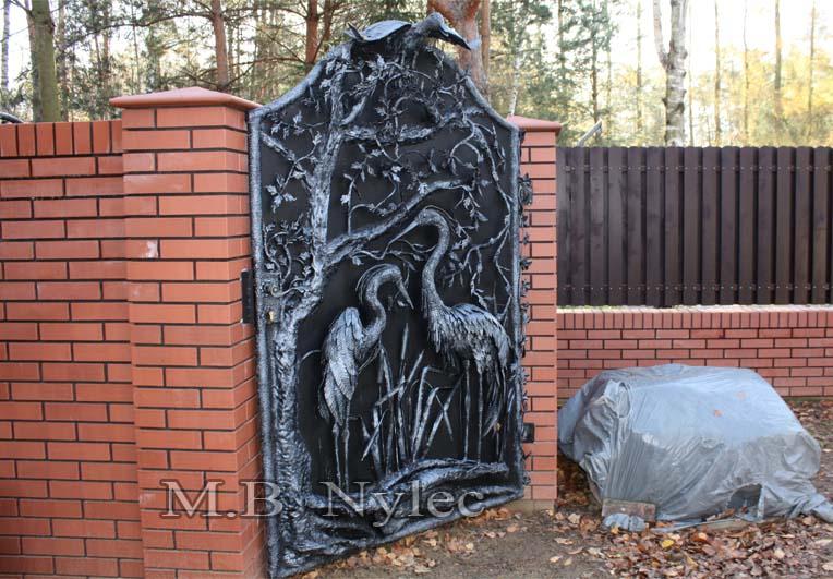 Metallskulptur - einzigartige geschmiedete Tür - Katalognummer bm28
