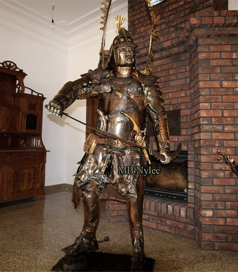 Stahlfiguren - Huzar aus Stahl - Höhe 220 cm - Katalognummer z89 - MB Nylec
