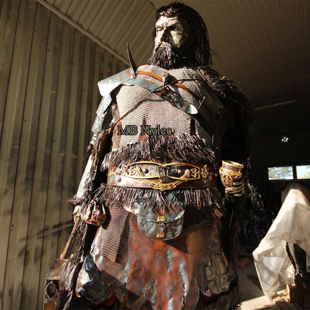 Wikinger - Krieger aus Stahl - Höhe 320cm